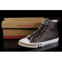 Brown Soft Nap CONVERSE Winter All Star Shearling Leather Shoes New Release
