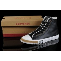 Black Soft Nap CONVERSE Winter All Star Shearling Leather Shoes Super Deals