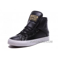Black High CONVERSE Velcro Big Tongue Winter Leather CT All Star For Sale
