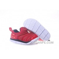 Kid's Nike Dynamo Free Shoes White/Red 607 For Sale