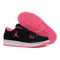 Girls Air Jordan 1 Low Black Pink Shoes For Sale Free Shipping