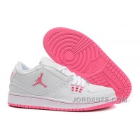 Girls Air Jordan 1 Low White Pink Shoes For Sale Discount