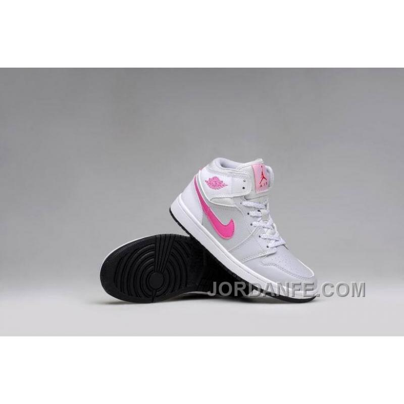 newest collection 9d2ba 1cc57 USD  80.56  99.18. Girls Air Jordan 1 Grey Pink White Shoes For Sale ...