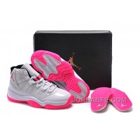 2016 Girls Air Jordan 11 White Pink Shoes For Sale Online New Arrival