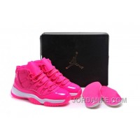 """2016 Girls Air Jordan 11 """"Pink Everything"""" Pink White Shoes For Sale Online New Arrival"""
