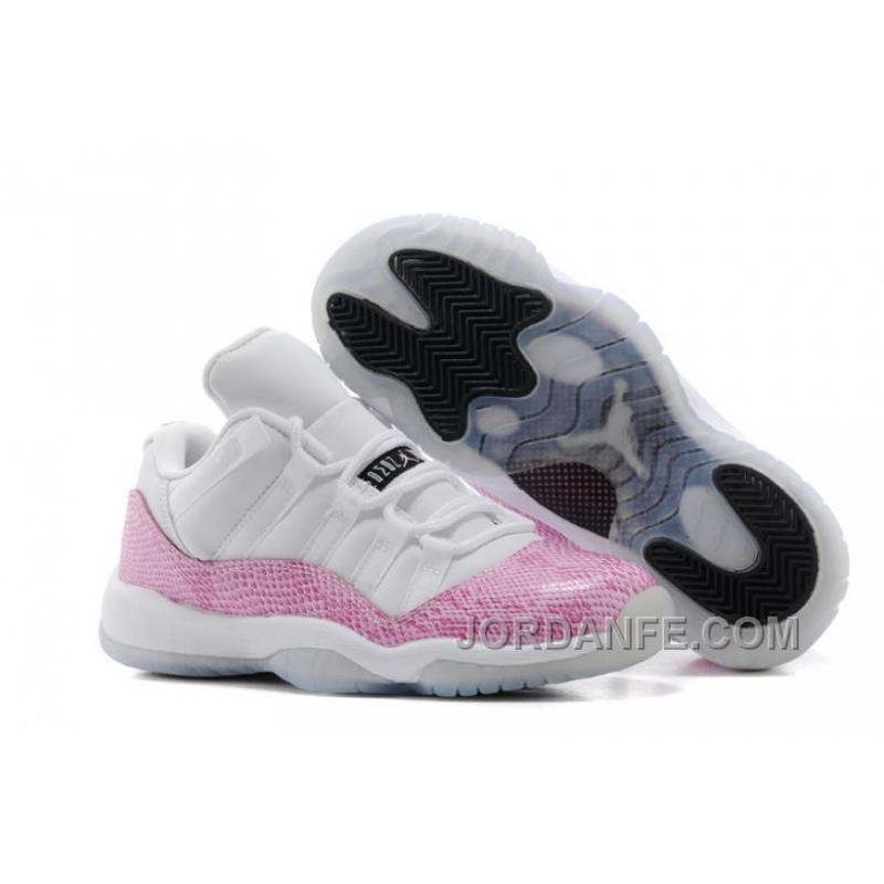 """new style 94807 b4d7c Girls Air Jordan 11 Retro Low """"Pink Snakeskin"""" White/Cherry Pink-Black For  Sale New Release"""