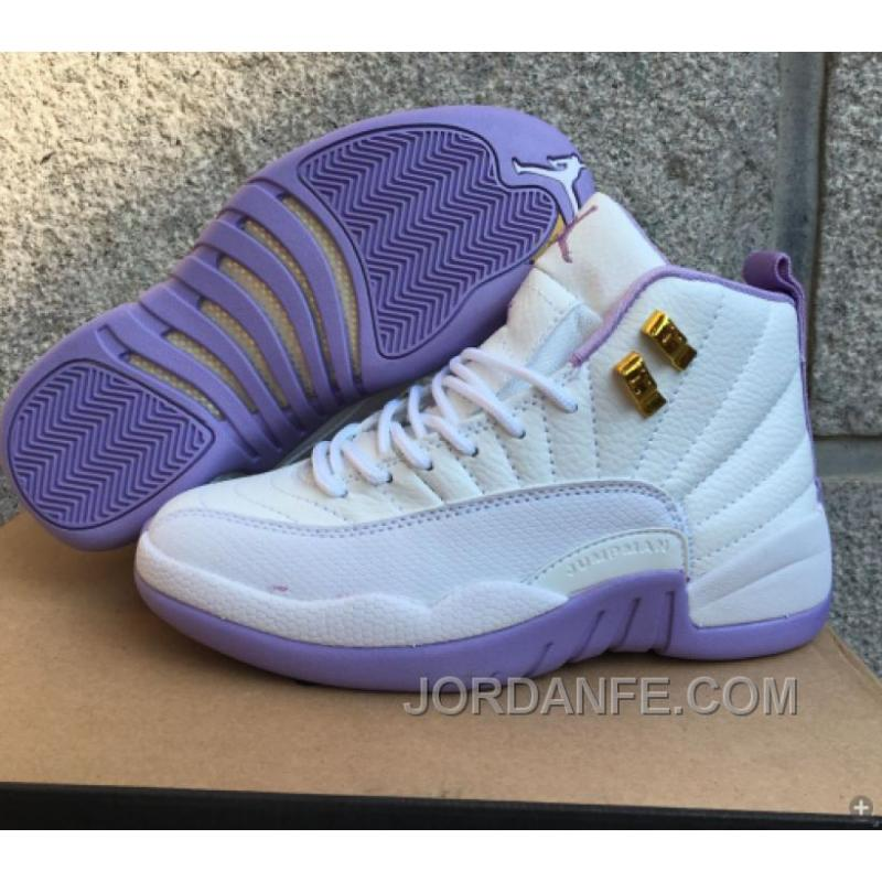 "USD  80.79  99.18. 2016 Air Jordan 12 GS ""Dark Purple Dust"" White Purple  For Sale Authentic ... 37a3c47f7"