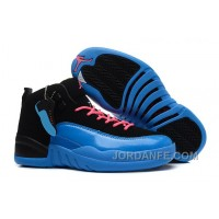 "Girls Air Jordan 12 ""Gamma Blue"" For Sale Super Deals"
