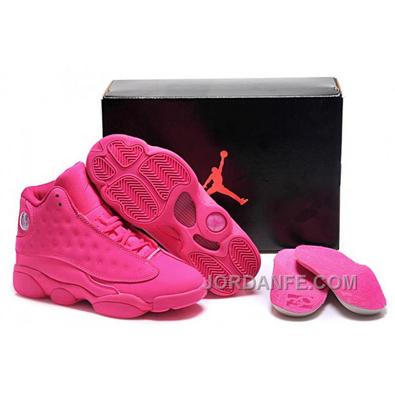 Girls Air Jordan 13 All Pink Shoes For Sale Online Top