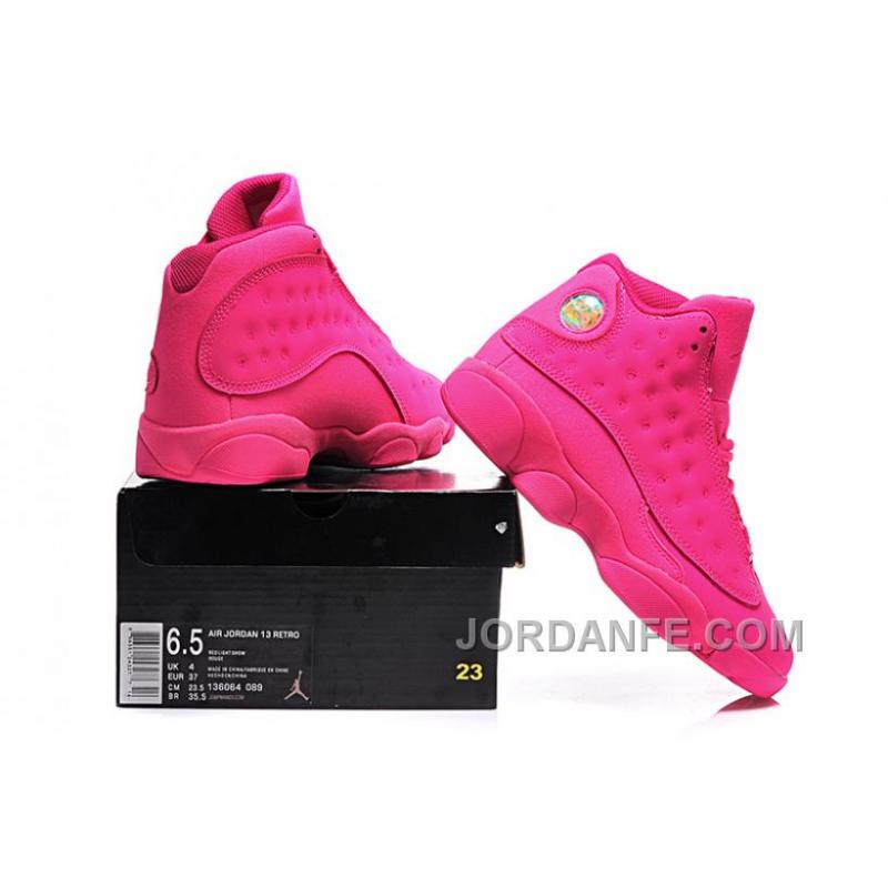... Girls Air Jordan 13 All-Pink Shoes For Sale Online Top ...