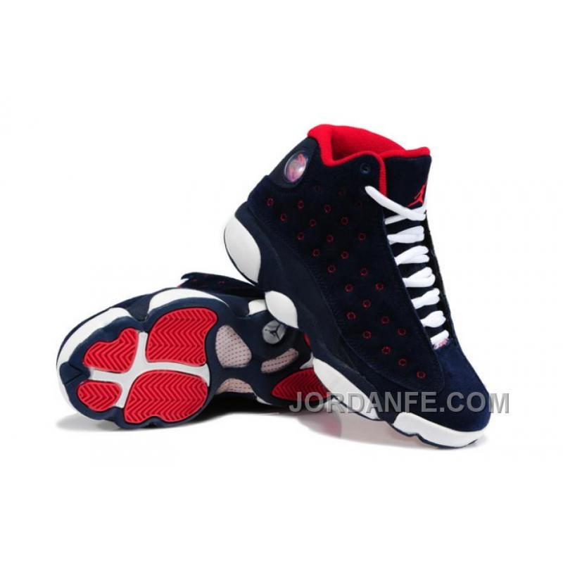 8eba8160db5 USD  80.82  99.18. Girls Air Jordan 13 Retro Suede Dark Blue Red-White ...