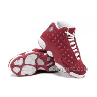 Girls Air Jordan 13 Retro Suede Red White For Sale Top