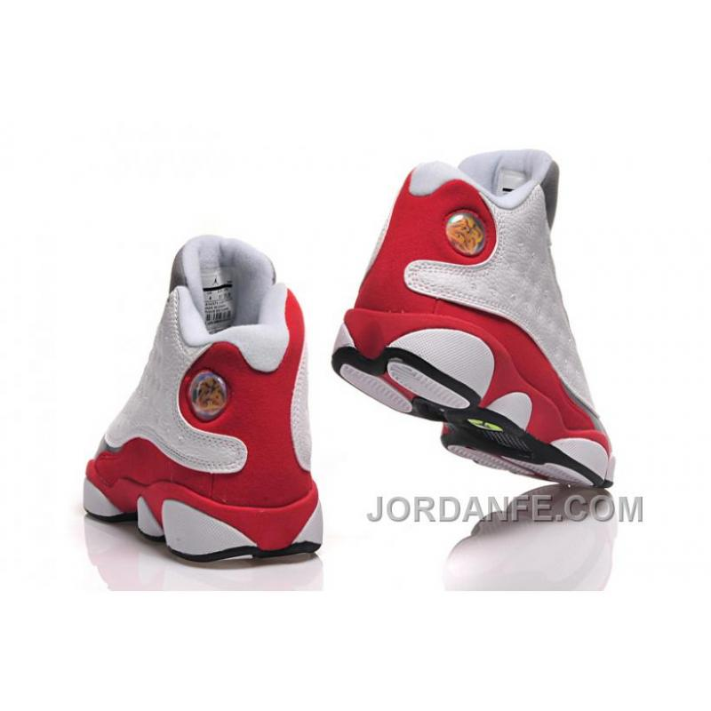 b6605344836e ... ireland girls air jordan 13 retro cement grey white black true red  3cc29 c3e28 ...