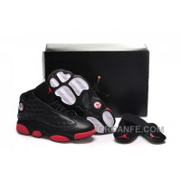 """Girls Air Jordan 13 """"Gym Red"""" Black/Gym Red-Black Shoes For Sale New Arrival"""