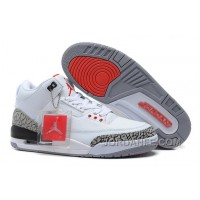 Air Jordans 3 Retro '88 White/Fire Red-Cement Grey-Black For Sale