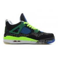 "Air Jordans 4 Retro Doernbecher ""Superman"" Black/Old Royal-Electric Green-White Hot"