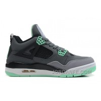 Air Jordans 4 Retro Dark Grey/Green Glow-Cement Grey-Black For Sale Online