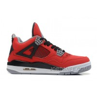 "Air Jordans 4 Retro ""Toro Bravo"" Fire Red/White-Black-Cement Grey For Sale"