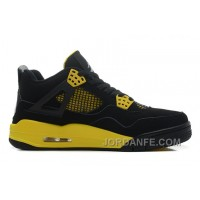 "Air Jordans 4 Retro ""Thunder"" Black/White-Tour Yellow For Sale Top"