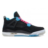 "Air Jordans 4 Retro ""South Beach"" Black/Dynamic Blue-White-Vivid Pink For Sale Hot"