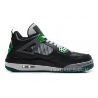 "Air Jordans 4 Retro ""Oregon Ducks"" Black/Metallic Oregon Gren-Grey-White Discount"