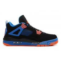 "Air Jordans 4 Retro ""Cavs"" Black/Orange Blaze-Old Royal For Sale Free Shipping"