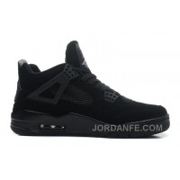 "Air Jordans 4 Retro ""Black Cat"" Black/Black-Light Graphite For Sale"