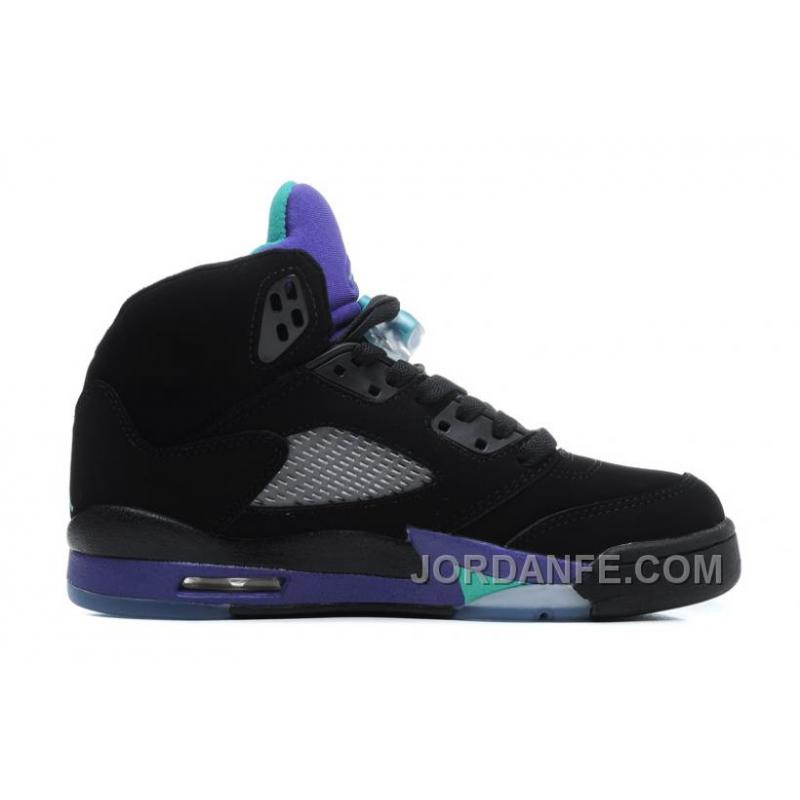 5f6543d3f8e562 Air Jordans 5 Retro Black New Emerald-Grape Ice For Sale Xmas Deals ...