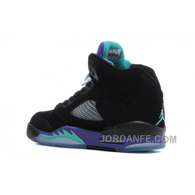 eb70a79313f3b2 ... Air Jordans 5 Retro Black New Emerald-Grape Ice For Sale Xmas Deals ...