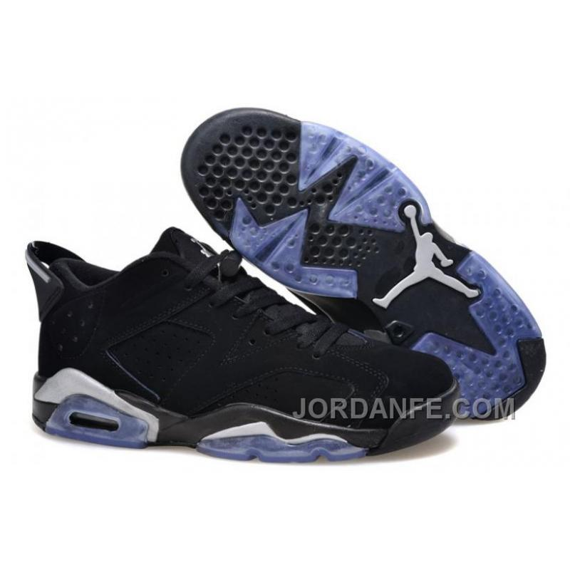 "5486dc3cd55 USD $80.52 $99.18. Girls Air Jordan 6 Low ""Chrome"" Black/Metallic Silver-White  ..."
