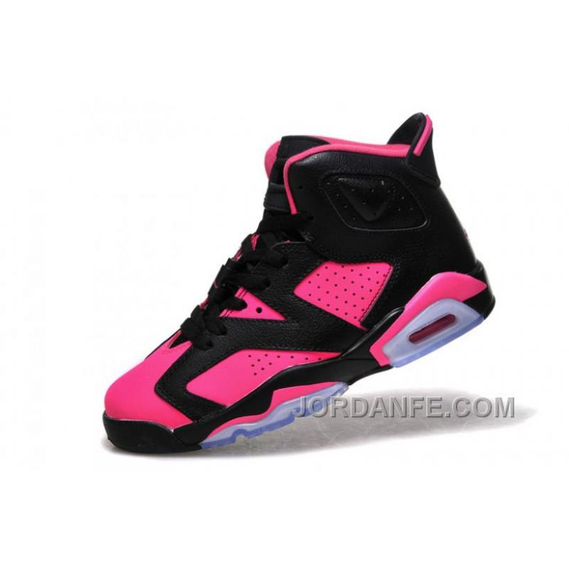 7103c3b4712 Girls Air Jordan 6 Black Pink Shoes For Sale New Release, Price ...