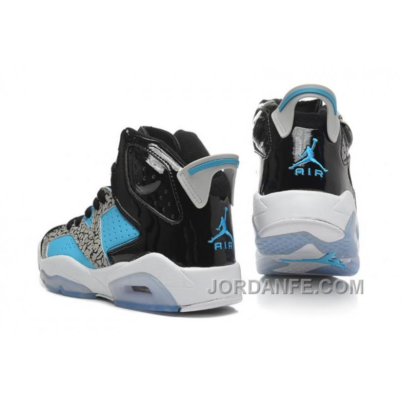 jordan shoes for girls 2015 black and white. girls air jordan 6 retro \u201cleopard print\u201d black blue white for sale shoes 2015 and