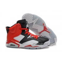Air Jordans 6 Retro Black White Red For Sale Discount