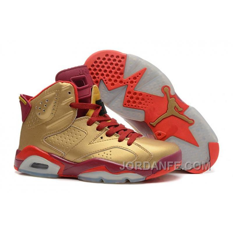 huge selection of edaad b2ad2 USD  80.67  99.18. Air Jordans 6 Retro Metal Gold Deep Red-Varsity Red For  Sale Xmas Deals ...
