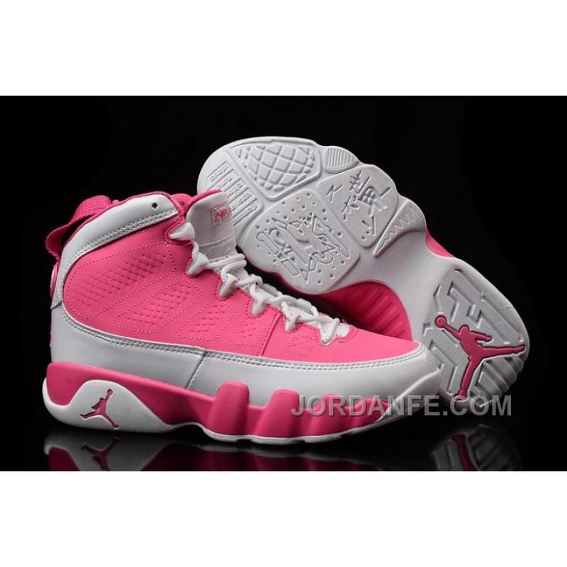 ab36b685370524 USD  80.25  99.18. Girls Air Jordan 9 Pink White ...