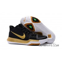 Girls Nike Kyrie 3 Black Gold White Best