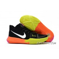 Girls Nike Kyrie 3 Black Colorful Volt Orange Pink New Release