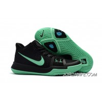 Girls Nike Kyrie 3 Black Grass Green New Release