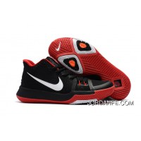 Girls Nike Kyrie 3 Black Red White Cheap To Buy
