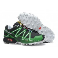 Salomon Speedcross 3 CS Hombres Second Leather Zapatos Negro Verde White En Venta Online