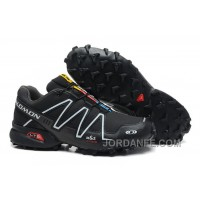 Salomon Speedcross 3 CS Second Leather Hombres Zapatos In Negro White Venta Online