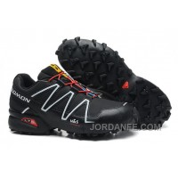 Salomon Speedcross 3 CS Second Leather Hombres Zapatos Negro White Rojo En Venta Free Shipping