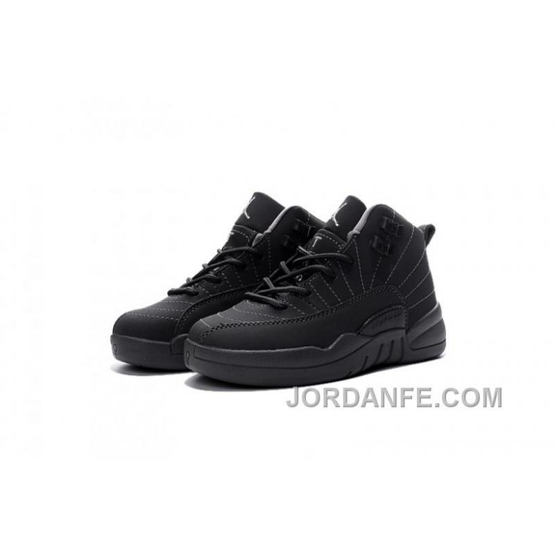 b1b84681eaaf USD  64.12  99.18. Cheap Hot Sale Kids Air Jordan 12 All Black ...