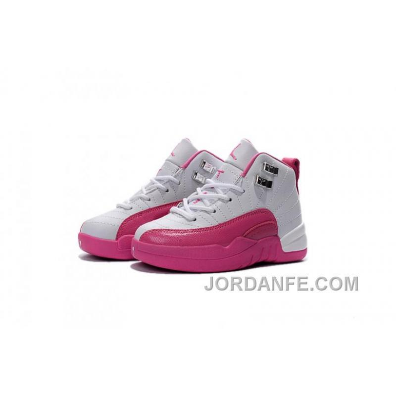 c981ba6f7 Kids Jordan 12 Shoes Valentine s Day Dynamic Pink For Sale Free ...