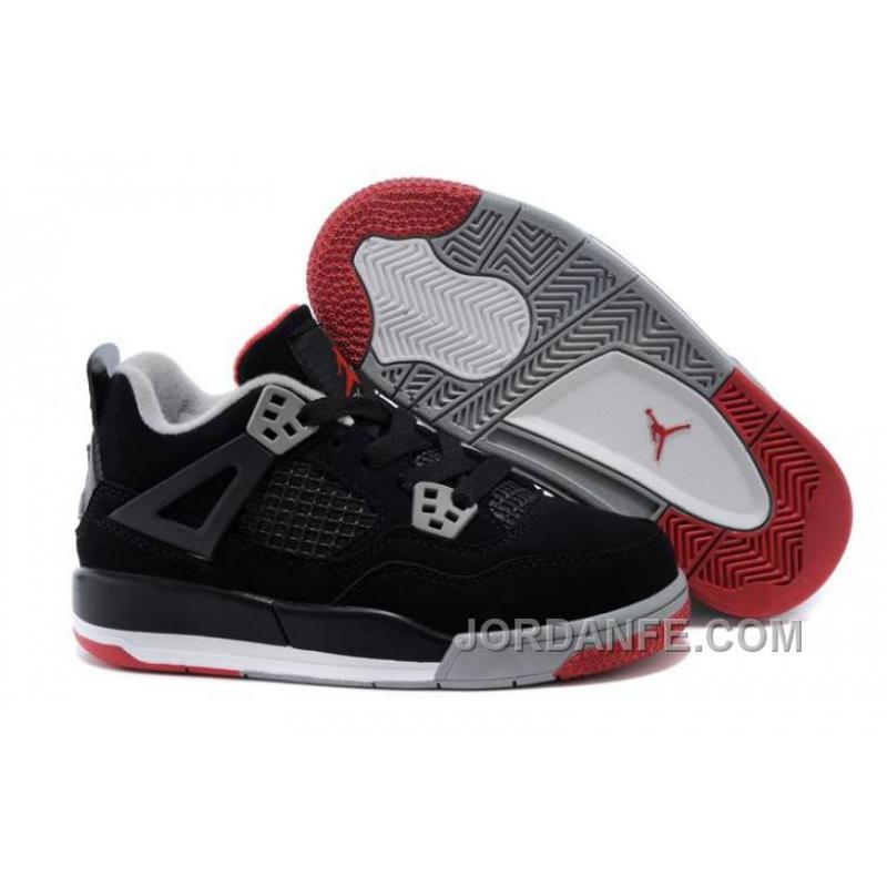 new arrival 824dc 0726f USD  80.62  99.18. Kids Jordan 4 Bred Basketball Shoes ...