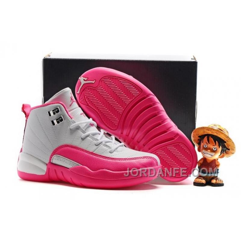 "Kids Air Jordan 12 ""Vivid Pink"" 2016 For Sale New Arrival, Price"