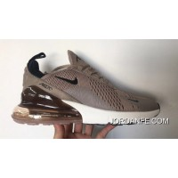 Air Max 270 Nike Heel Half-palm Cushion Jogging Shoes Khaki Black Men Shoes AH8050-200 2018 New Release