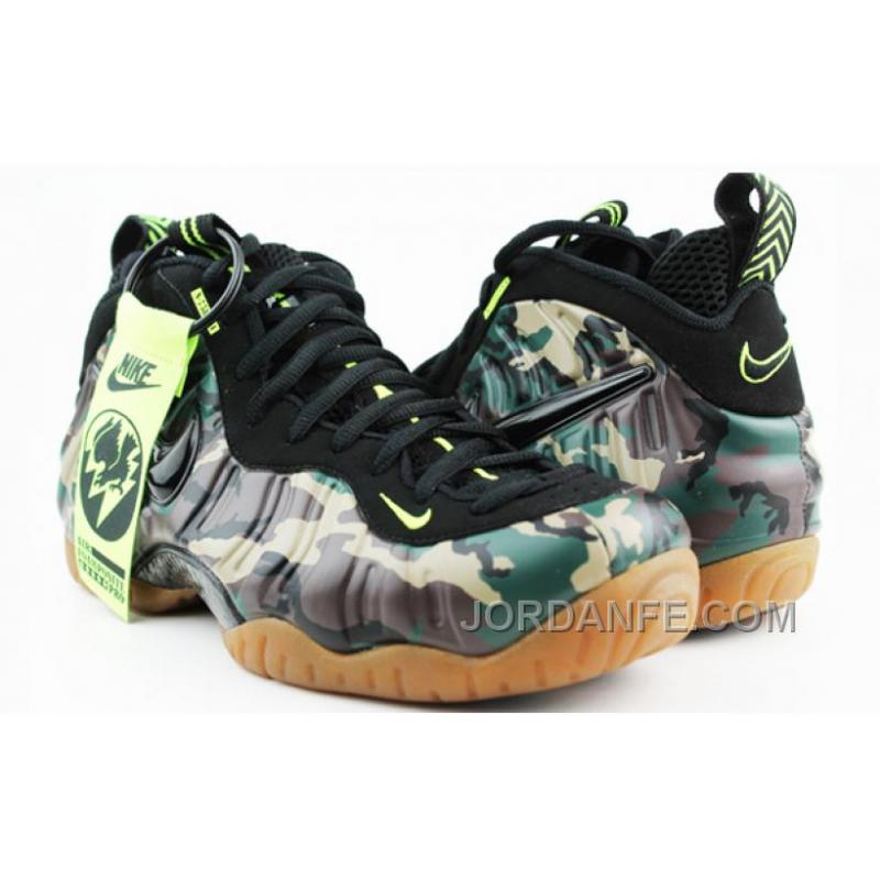 "d5a783e4e0275 Nike Air Foamposite Pro PRM LE ""Army Camo"" ForestBlack For Sale ."