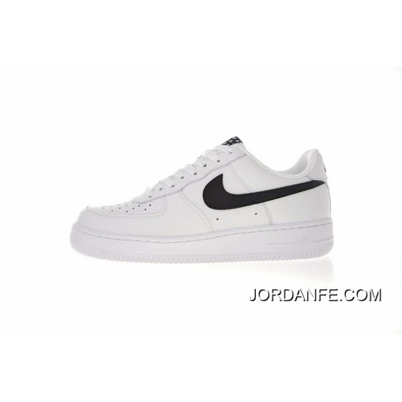 more photos e5bd0 5c426 35.5-45 Right Litchi Grain Leather Version Nike Air Force 1 AF1 Low One  All-match Sneakers White Black Five-star AA4083-103 For Sale