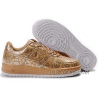 Nike Air Force 1 Low Mens Gold White Online